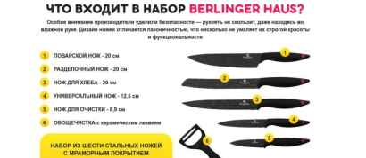 Ножи Berlinger Haus – отзывы, где купить оригинал, цена