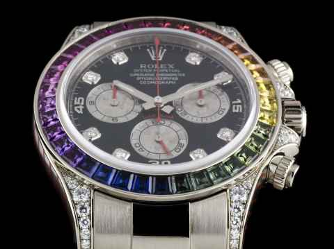 Часы Rolex White Gold Daytona Rainbow в Якутске