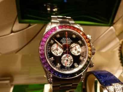 Часы Rolex White Gold Daytona Rainbow реплика – отзывы, где купить, цена