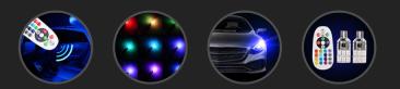 Многоцветные RGB лампы для авто – отзывы, где купить, характеристики