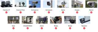 Список камер против каких работает глушитель.